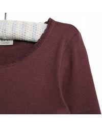 WHEAT Rib langærmet T-shirt Powder plum-00