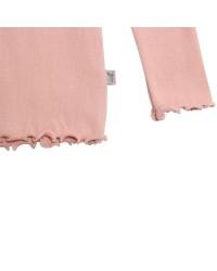 WHEAT Rib langærmet T-shirt Rose powder-00