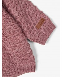 NAME IT Kabelstrikket cardigan Card Rose-00