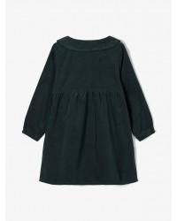 NAME IT Fløjls kjole Grøn-00