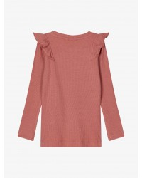 NAME IT langærmet T-shirt Rib Withered Rose-00