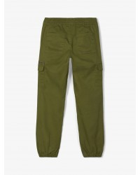 NAME IT-Bomulds-Twill Cargopants Winther Moss-00