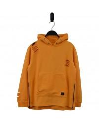 HOUND Sej hoodie med lynlåsdetalje orange-00
