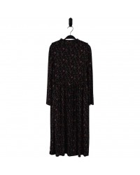 HOUND Lang kjole i transparent blomstret mønster-00