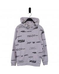 HOUND Sej hoodie i flot fashion design hvid med sort grafitti skrift-00