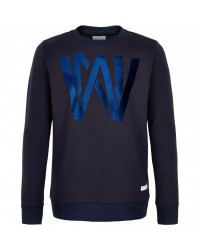 THE NEW SWEATSHIRT MED FLOTTE SKINNENDE BOGSTAVER KONRAD NAVY-00
