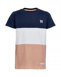 THE NEW T-shirt navy / hvid / rose-00