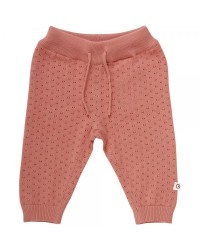 MÛSLI Knit dot pants Dark peach-00
