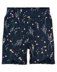 THE NEW LOLLY SHORTS navy med print af markblomster-00
