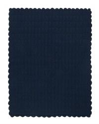 MÜSLI Strikket tæppe i flot mønster navy-00