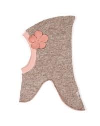 HUTTELIHUT Elefanthue Uld/Bomuld Camel/dusty flower-00