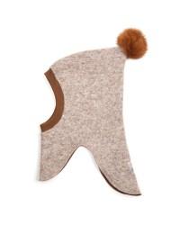 HUTTELIHUT Elefanthue Bomuld/uld Camel-00