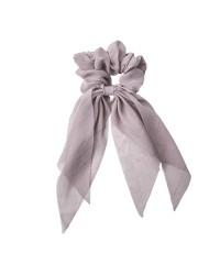 BOWS BY STÆR Tørklæde scrunchie – Støvet lilla med glitter-00