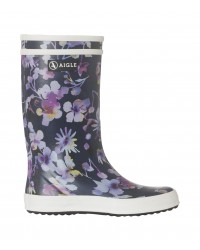 AIGLE Baby Flac and Lolly Pop Dark Flower gummistøvler navy-00