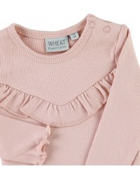 WHEAT Body rib Ruffle Misty Rose-00