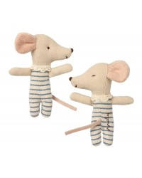 MAILEG Baby mouse Sllep/wakey in box dreng-00