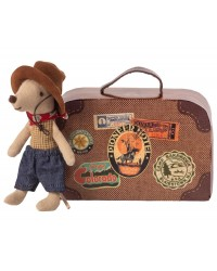 MAILEG Cowboy i en kuffert Little brother mouse-00