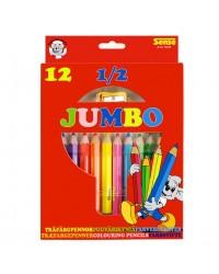 FORLAGET BOLDEN Jumbo-mini blyanter (pakke med 12 stk.)-00