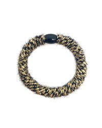 BOW´S BY STÆR Hairties Fluffy Black/Gold-00
