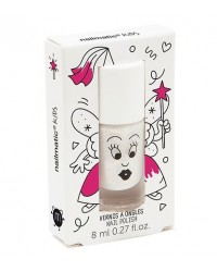 NAILMATIC Neglelak White/powder perlemor-00