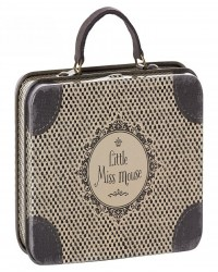 MAILEG Little miss mouse metal suitcase brun-00