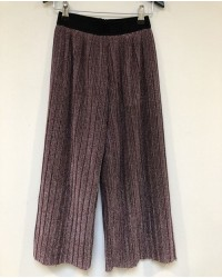 PETIT BY SOFIE SCHNOOR Plisseret culotte wide pants i lyslilla glimmer-00