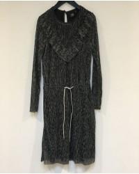 PETIT BY SOFIE SCHNOOR Kjole i crepe stof med leopardmønster sølv-00