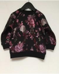 PETIT BY SOFIE SCHNOOR Sweatshirt med blomsterprint sort-00