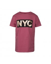 PETIT BY SOFIE SCHNOOR T-shirt med NYC-print cherry red-00
