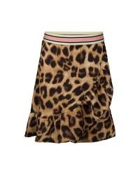 PETIT BY SOFIE SCHNOOR Skirt i leopard print med flæser og stribet elastik-00