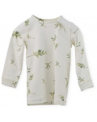 PETIT PIAO Printed L/S T-shirt Olive-00