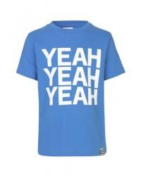 MADS NØRGAARD Smart T-shirt med hvidt YEAH-print lyseblå-00