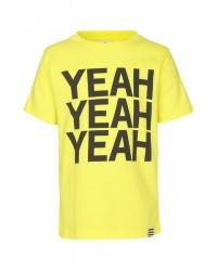 MADS NØRGAARD Smart T-shirt med sort YEAH-print gul-00