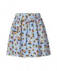 MADS NØRGAARD Skirt med blomster Flower Stripe Pop Skylina Multi-00
