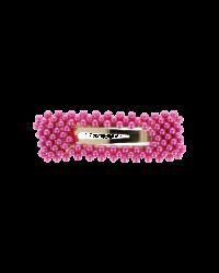 BOW´S BY STÆR Sofia krystalspænde dark pink-00