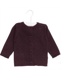WHEAT Knit cardigan Maja Soft Eggplant-00