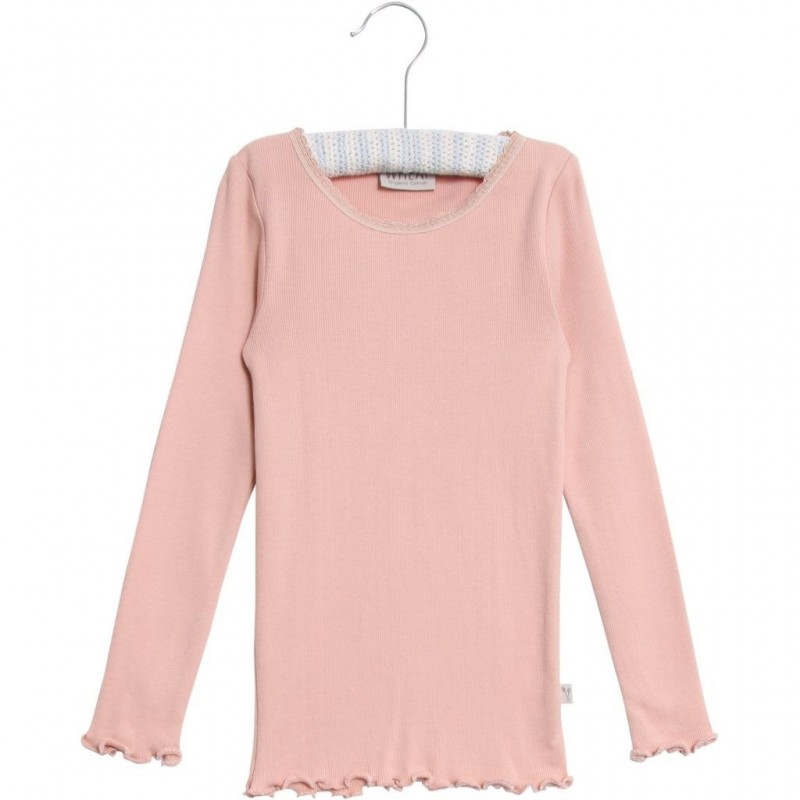 WHEAT Rib T-shirt lace LS Misty rose-32