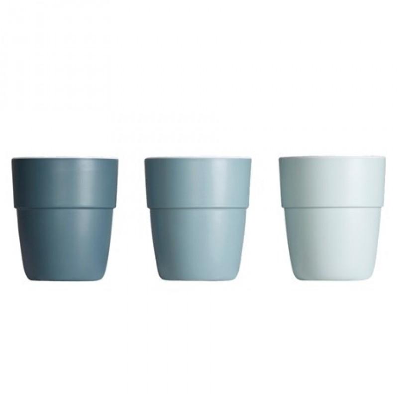 Yummy 3-pak krus petroleum/blå/lyseblå-33