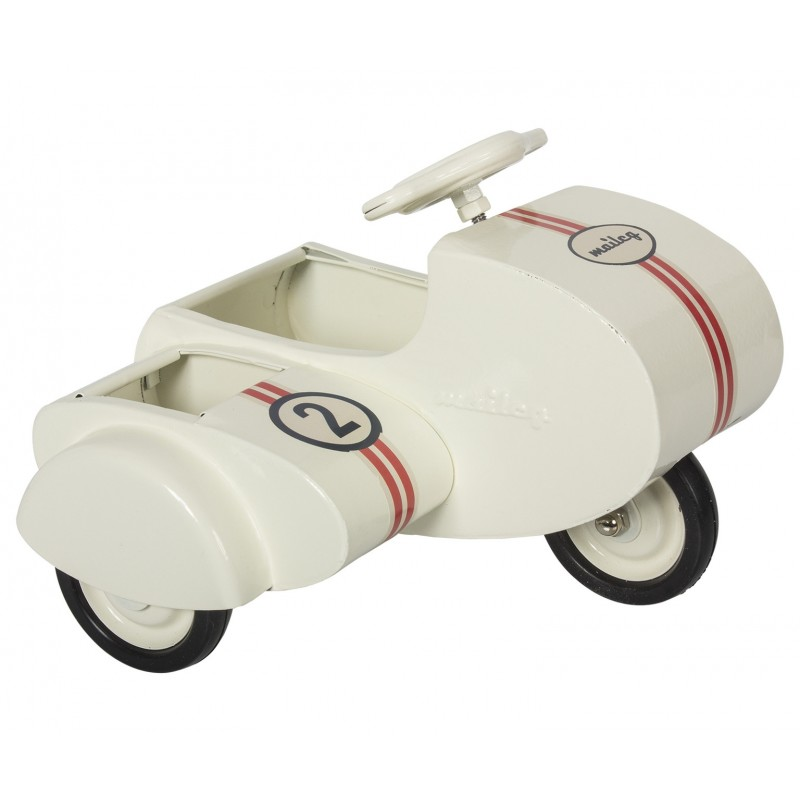 Scooter med sidevogn råhvid-31