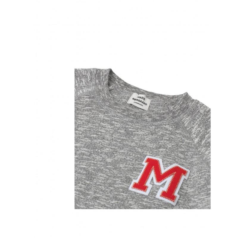 MADS NØRGAARD Sweatshirt med rund hals Starlina grå-03