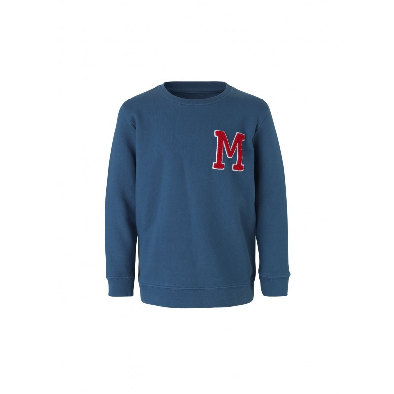 Sweatshirt med rund hals Solomino M blå-31