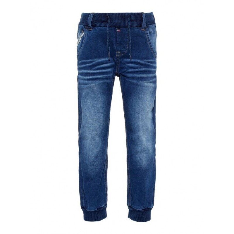 NAMEITBaggypullonJeansBlueDenim-31