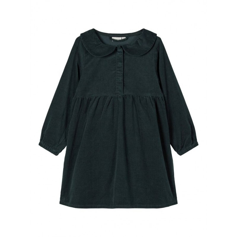 NAME IT Fløjls kjole Grøn-31