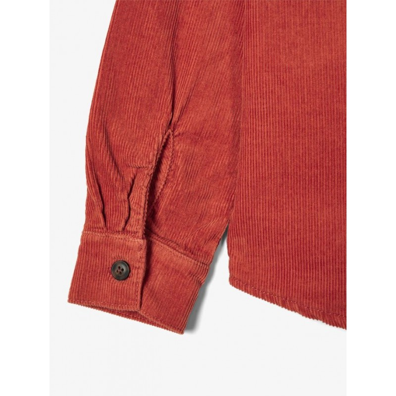 NAME IT Fløjls skjorte Burnt bric-01