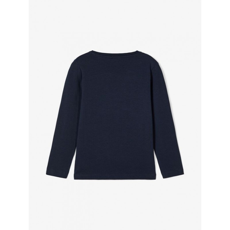 NAME IT Langærmet T-shirt Dino Navy-02