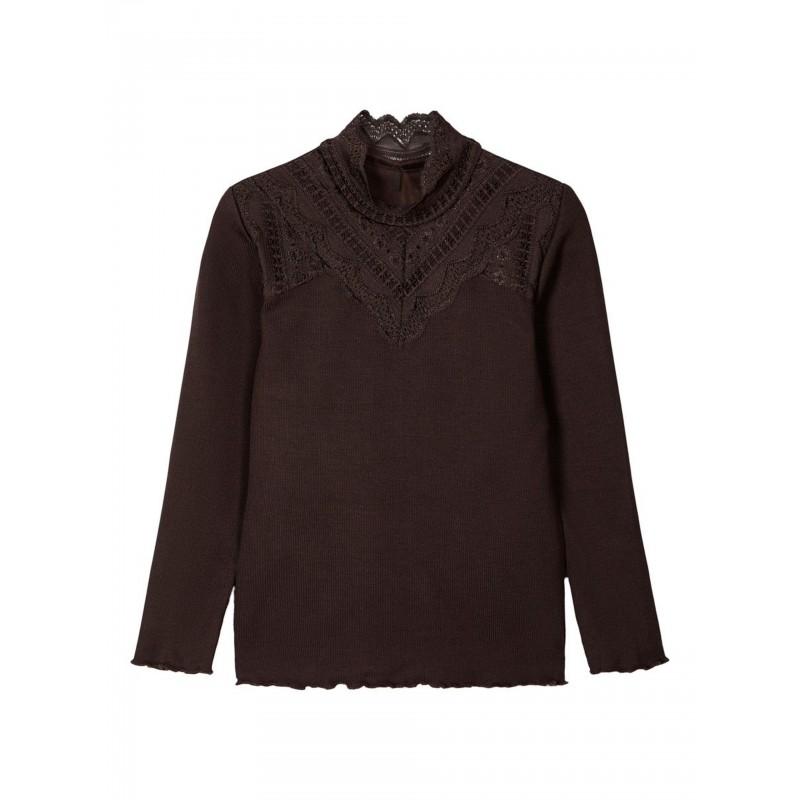NAME IT Langærmet T-shirt Brun-31