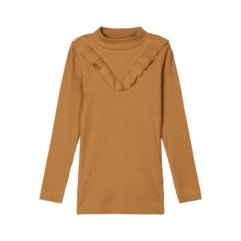 Name it Langærmet T-shirt i rib Medal Bronze-32
