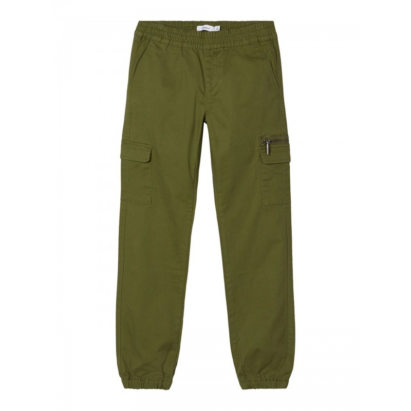 NAME IT-Bomulds-Twill Cargopants Winther Moss-31