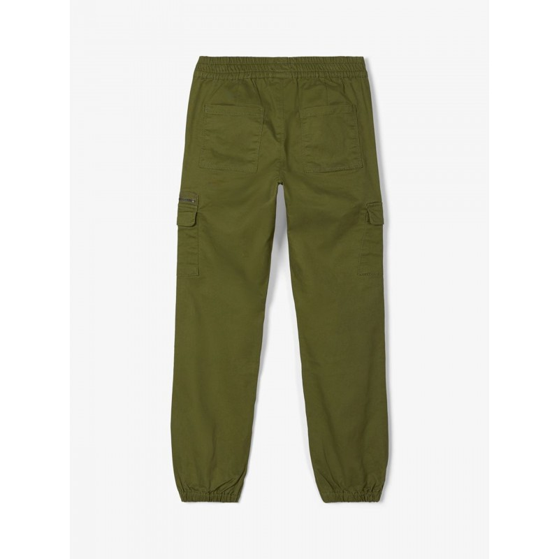 NAME IT-Bomulds-Twill Cargopants Winther Moss-01