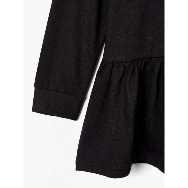 NAME IT Sweatshirt kjole Sort-01